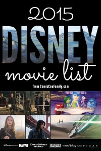 2015 Disney Movie List