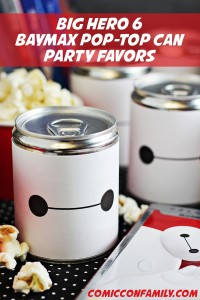 Big Hero 6 – Baymax Treat-Filled Can Party Favors (with free printable)