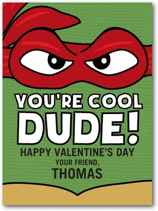 tmnt valentine day card