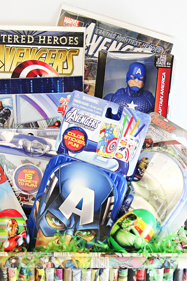 Easter basket ideas for kids marvel avengers comic con family avengers easter basket negle Image collections