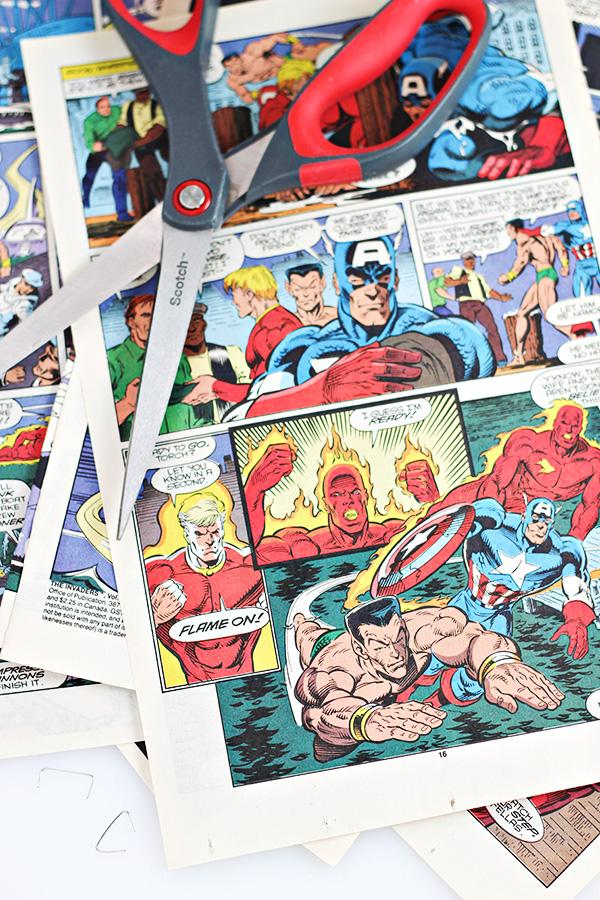 Comic Book Cover Tutorial : Diy comic book easter basket tutorial con family