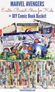 Marvel Avengers Easter Basket Ideas for Kids + DIY Comic Book Basket