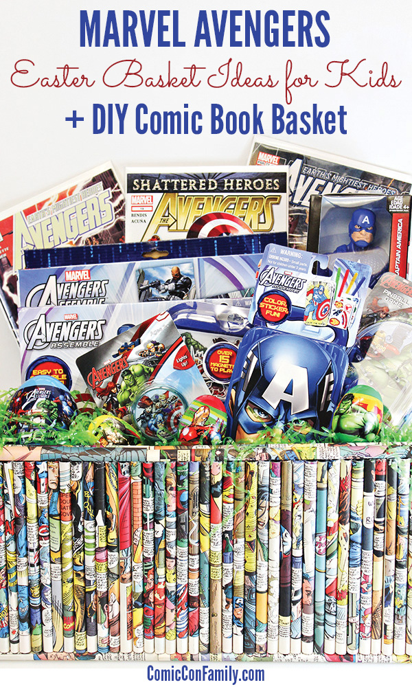 Easter basket ideas for kids marvel avengers comic con family marvel avengers easter basket ideas for kids diy comic book basket negle Choice Image