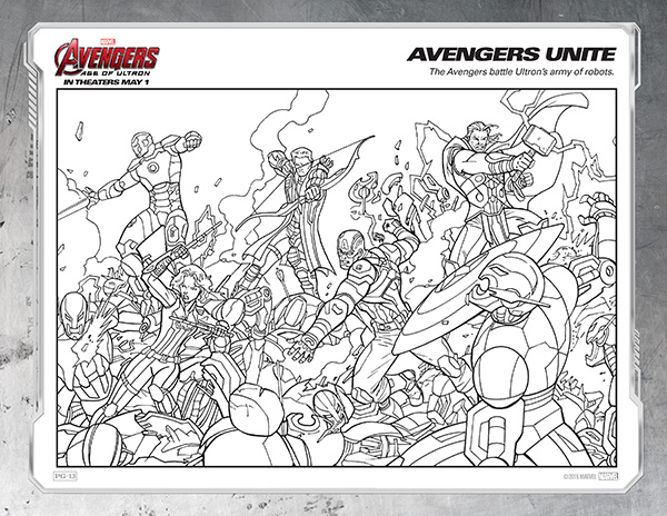 Avengers Coloring Page Unite Free Kids Printables Marvel S The Age Of Ultron