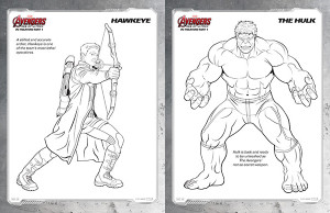 free kids printables marvel's the avengers age of ultron coloring pages  comic con family