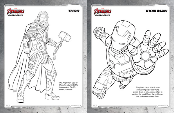 avengers coloring pages thor and iron man - Avengers Coloring Page