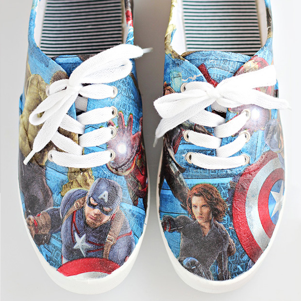 DIY Avenger Shoes by Comic Con Family