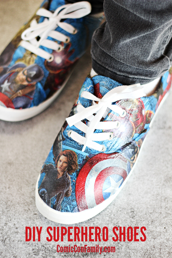 Do-It-Yourself Superhero Shoes with Mod Podge