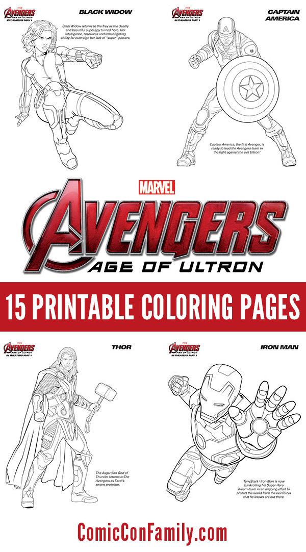 photo regarding Avengers Printable Coloring Pages identify Absolutely free Children Printables: Marvels The Avengers: Age of Ultron