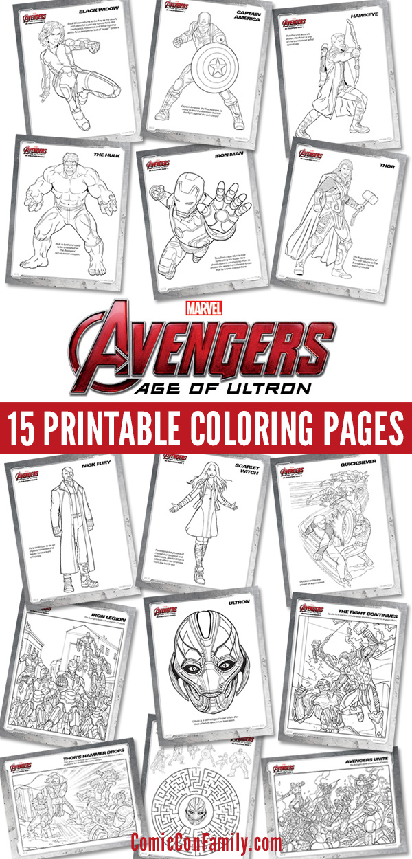Free Kids Printables: Marvel\'s The Avengers: Age of Ultron Coloring ...