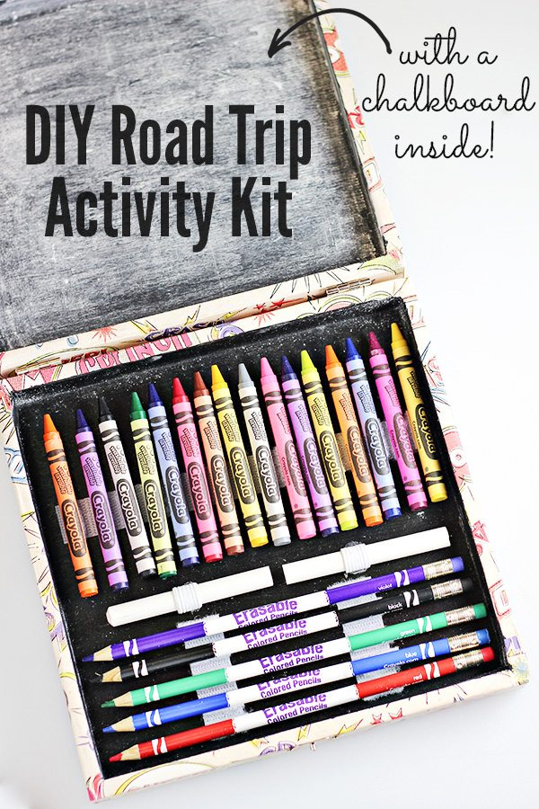DIY Road Trip Activity Kit for Kids -- with a chalkboard inside!