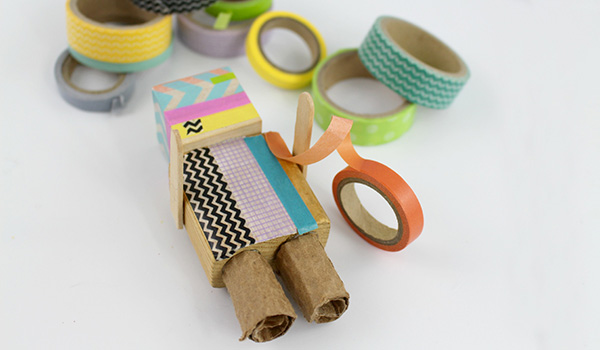 Step #2: DIY Washi Tape Robot Craft