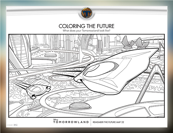 Free Kids Printable: Disney\'s TOMORROWLAND Activity Sheets & Games ...