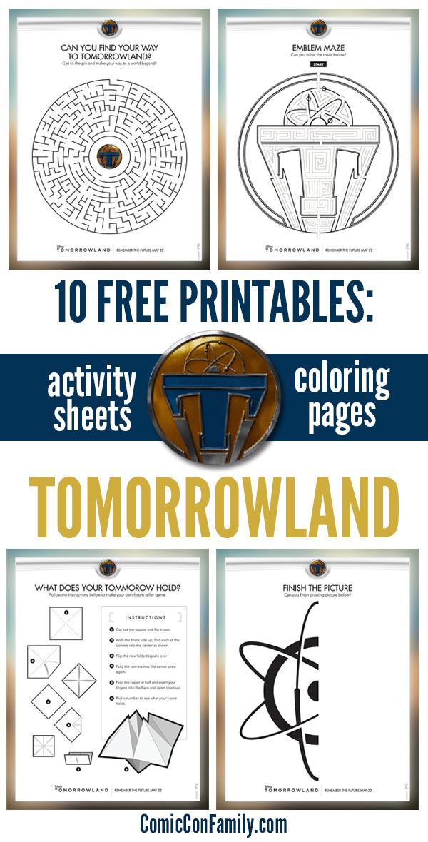 Free Kids Printable: Disney\'s TOMORROWLAND Activity Sheets & Games ...