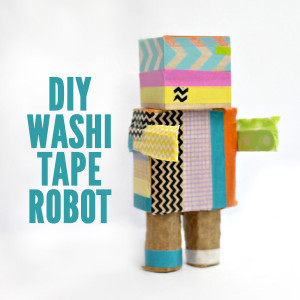 Easy Craft for Kids: Washi Tape Robot