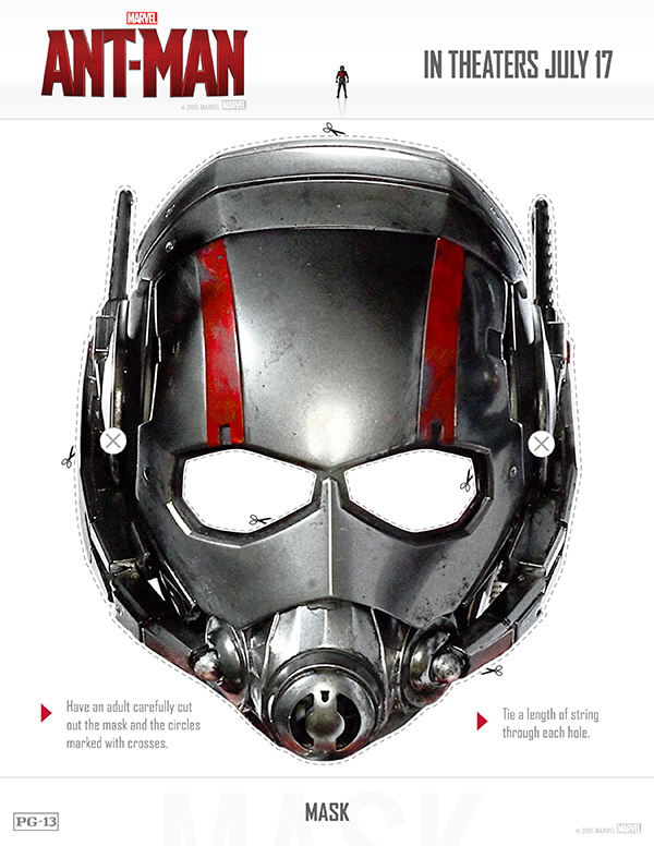 Free Printable Ant-Man Mask