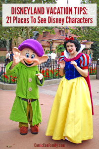 Disneyland Vacation Tips: 21 Places To See Disney Characters