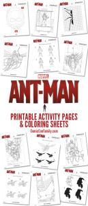 Free Kids Printables: AntMan Coloring Pages and Activity Sheets