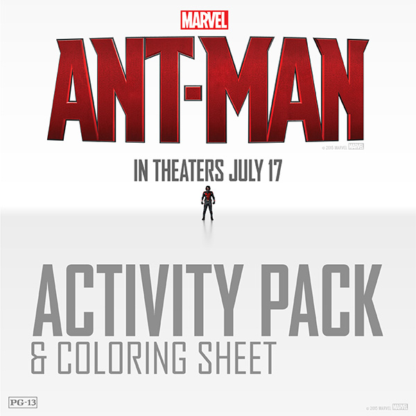 Free Printable: Ant-Man Activity Pack and Coloring Pages