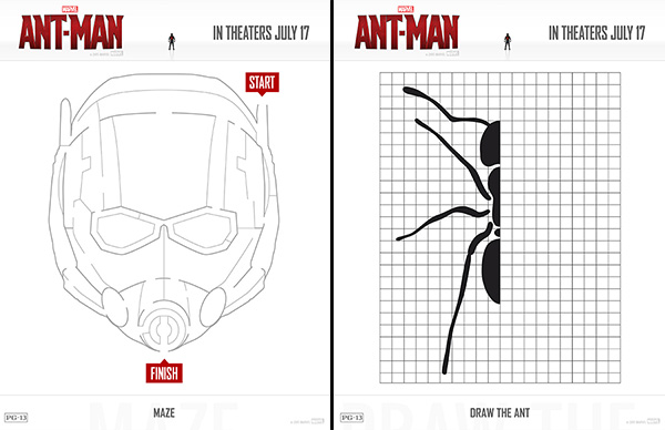 Free Printable Ant Man Activity Sheets 4 Coloring Pages