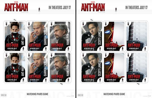 Free Printable Ant-Man Matching Pairs Game