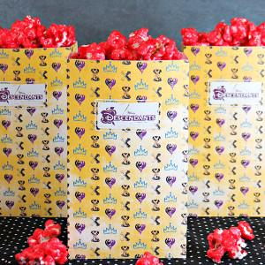 Disney's Descendants Printable Popcorn Box with Wicked Apple Popcorn