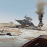 Star Wars: The Force Awakens 360 Experience – Ride Rey's Bike Across the Jakku Desert
