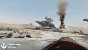 Star Wars: The Force Awakens 360 Experience – Ride Rey's Bike Across the Jakku Desert