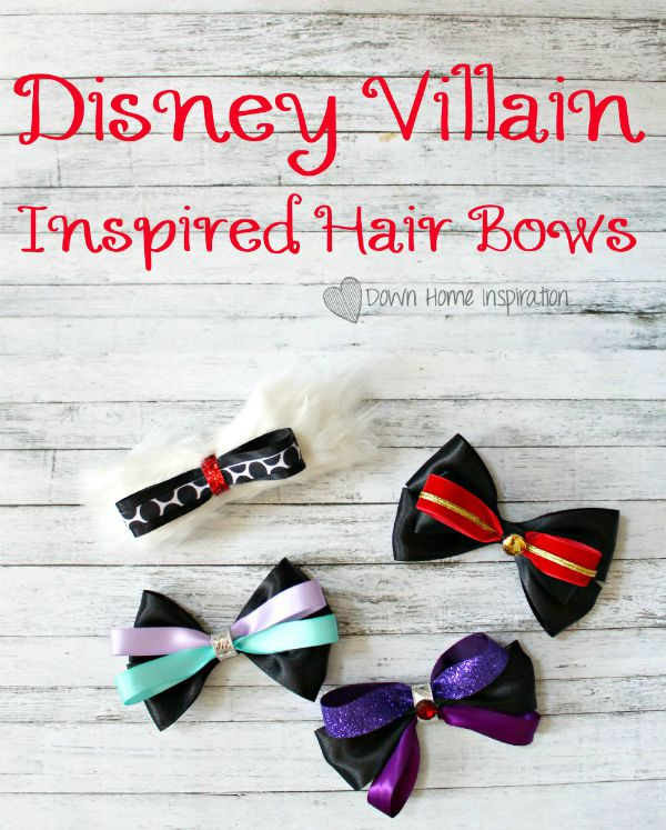 Disney Villain Hair Bows by Down Home Inspiration