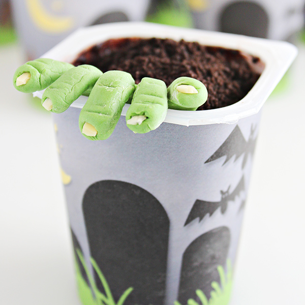 Zombie Party Idea: Zombie Graveyard Pudding Cups