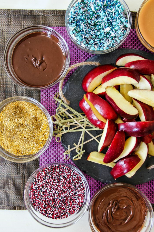 DIY Apple Dipping Station by Create Celebrate Explore