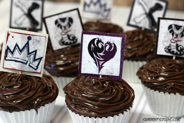Disney Descendants Printable Cupcake Toppers by Summer Scraps
