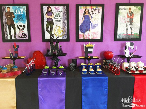Disney Descendants Watch Party by Michelle's Party Plan-It