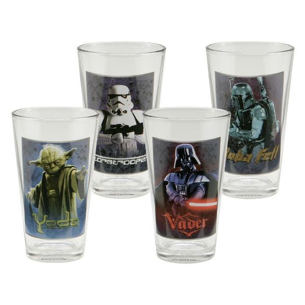 Star Wars 4 pc 16 oz Glass Set