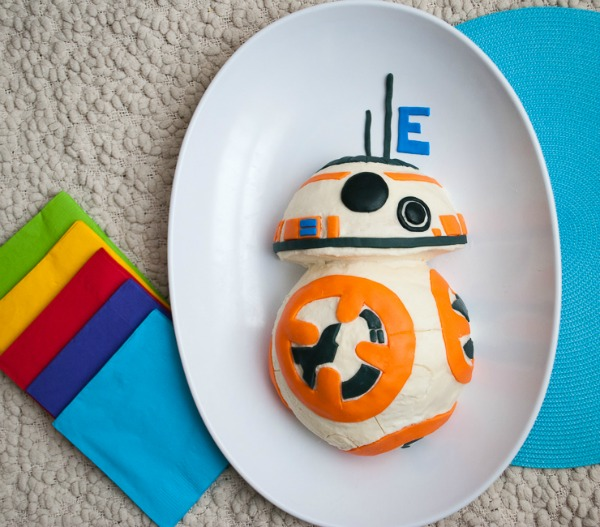 Easy Star Wars BB 8 Birthday Cake By Merrimentdesigns