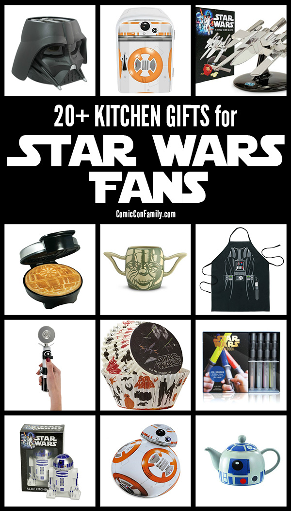 Need a gift for a Star Wars fan? We've compiled our favorite picks of over 20 KITCHEN GIFTS for STAR WARS FANS who also love cooking, baking - or EATING!