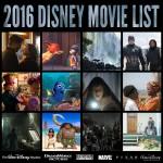 2016 List of Disney Movies