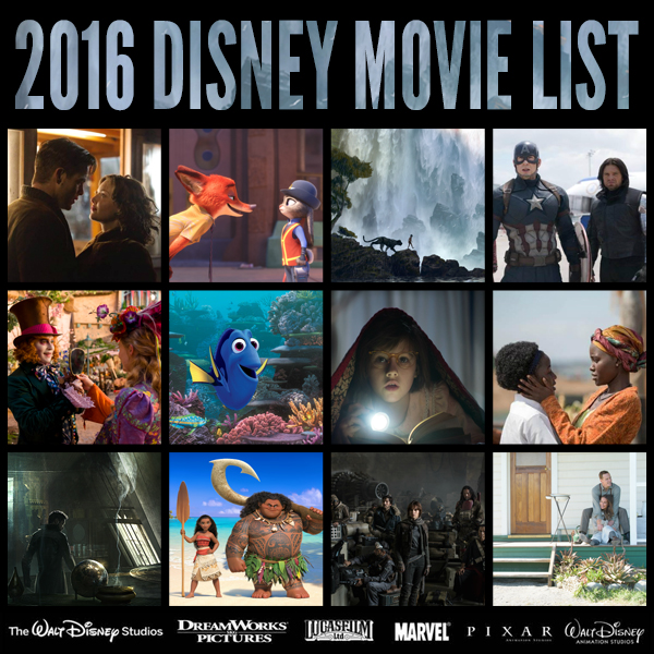 2016 list of disney movies comic con family