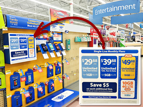 Walmart Family Mobile at Walmart Stores