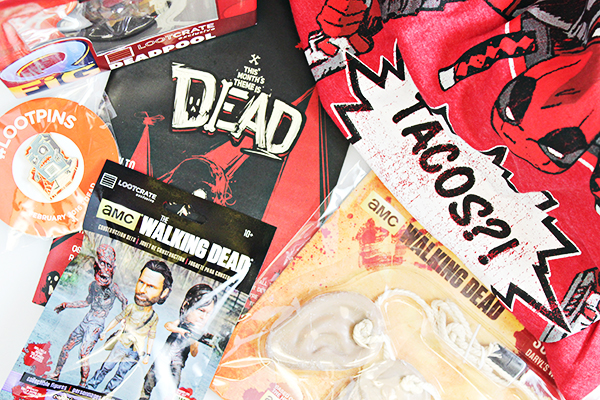February 2016 Loot Crate Unboxing -Dead -2