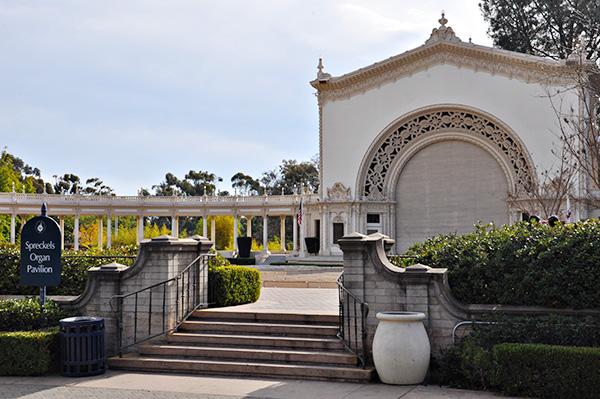Spreckels Organ Pavillion in Balboa Park, San Diego, California