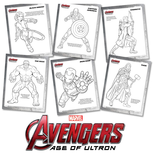 Free Kids Printables: Marvel's The Avengers: Age of Ultron Coloring Pages
