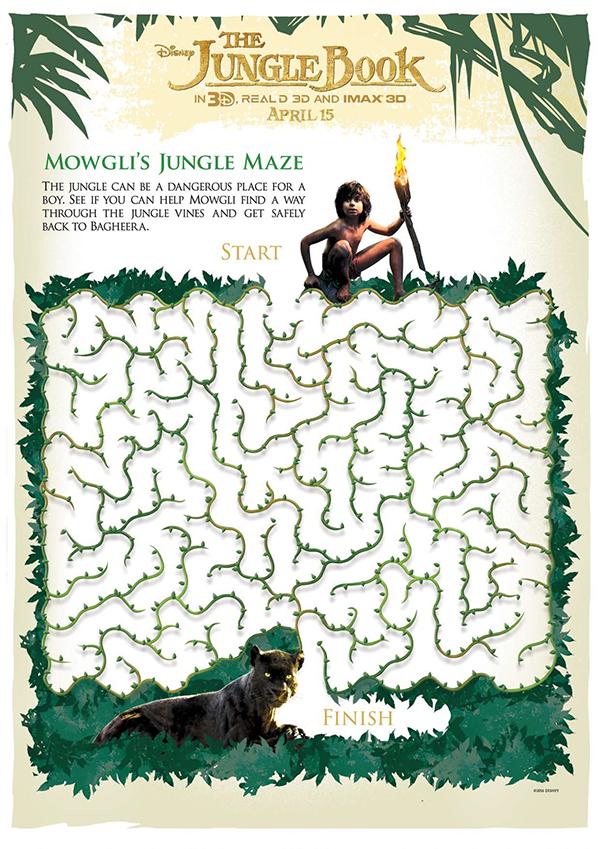 Free Printable - The Jungle Book - Mowgli's Jungle Maze
