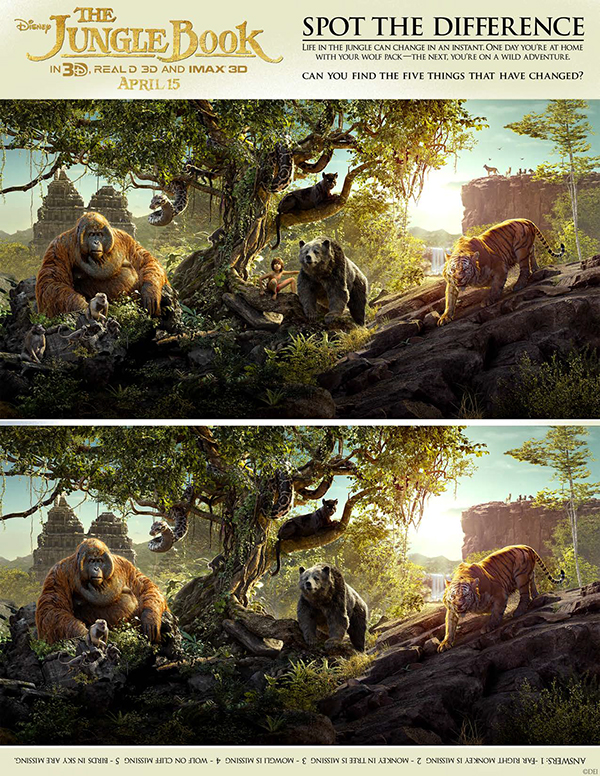 Free Printable - The Jungle Book - Spot the Difference