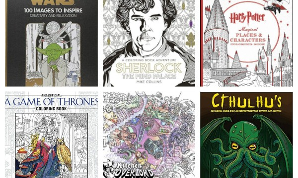 15+ Geeky Pop Culture Coloring Books for Adults