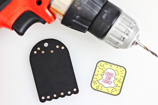 DIY Snapchat Snapcode Keychain