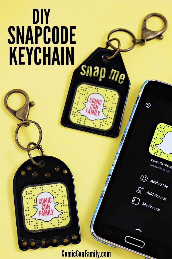 DIY Snapchat Snapcode Keychain Craft