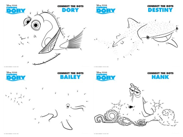 Free Printables: Finding Dory Coloring Pages and Activity Sheets ...