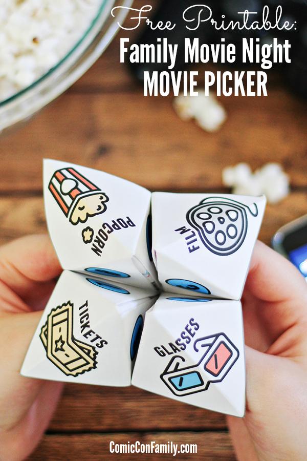 Free Printable Family Movie Night Movie Picker Comic