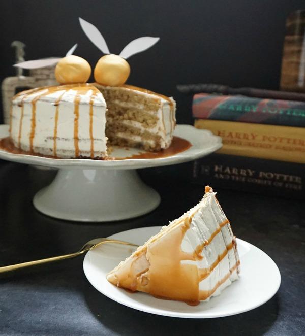 Harry Potter-inspired butterbeer cake